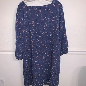 Gap Floral Long Sleeve Shift Dress.